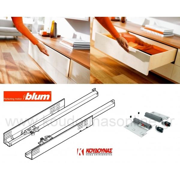 Οδηγός BLUM tandem 551H tip-on 41cm ρυθμιζόμενος