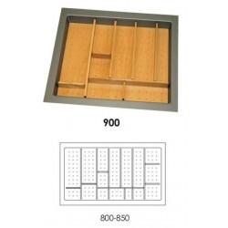 Κουταλοθήκη πλαστική-ξύλινη για 90cm κουτί