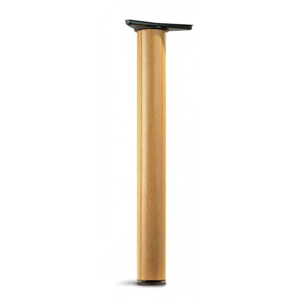 Πόδι Φ80 710 mm MDF δρύς