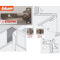 Μεντεσές BLUM clip top αντί μέτρου