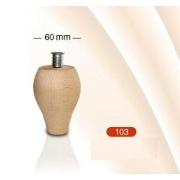 Πόδι ξύλινο οξυά Νο 103 105mm