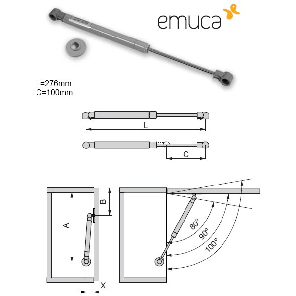 Κουμπάσο αμορτισέρ EMUCA 110N