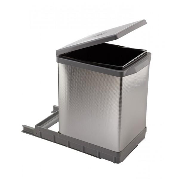 Κάδος συρόμενος αλουμινίου elletipi TOWER PAL609/1ALL