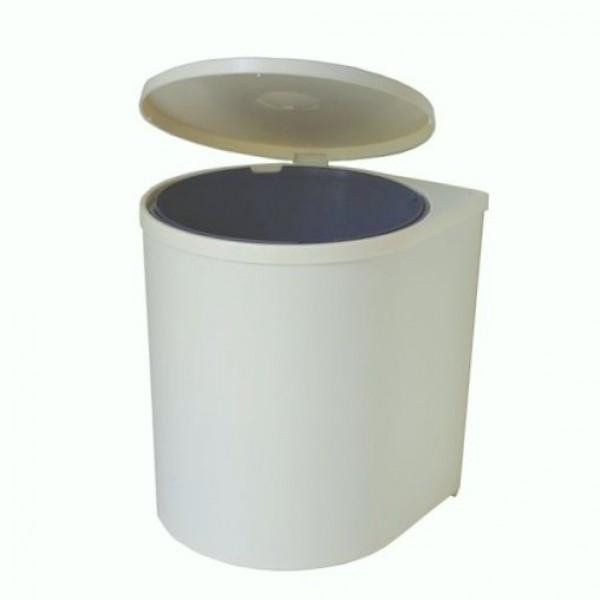 Κάδος πλαστικός eco λευκός
