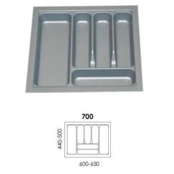 Κουταλοθήκη πλαστική για 70Κ γκρί