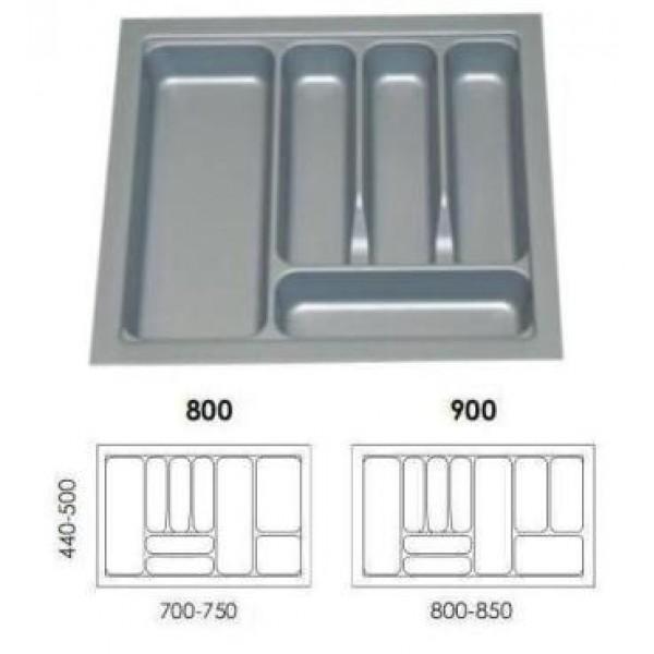Κουταλοθήκη πλαστική για 80Κ γκρί