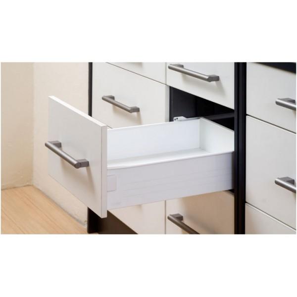 Μεταλλικό πλαϊνό metalbox Q-FIT 350x118 mm λευκό