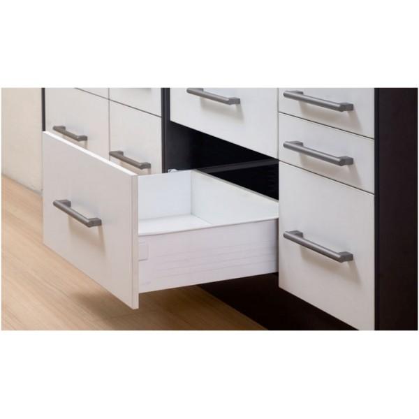 Μεταλλικό πλαϊνό metalbox Q-FIT 400x150 mm λευκό