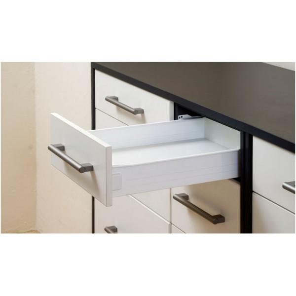 Μεταλλικό πλαúνό metalbox λευκό 550x86 mm