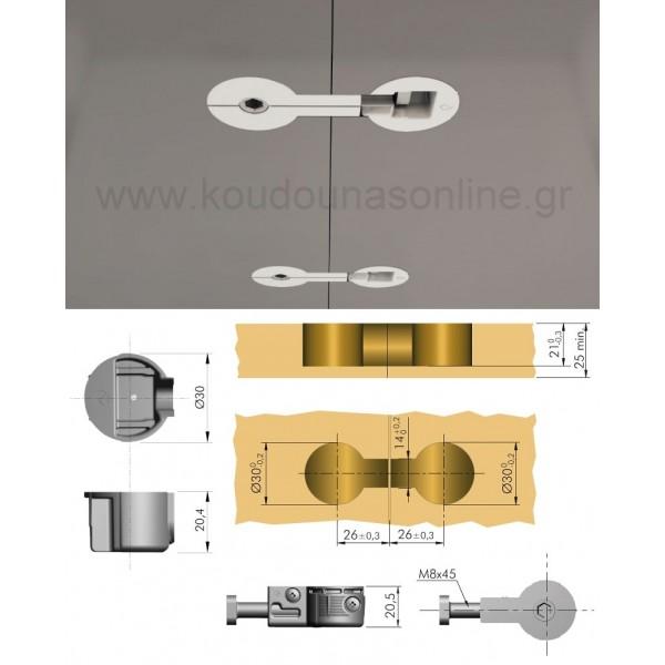 Συνδετήρας πάνελ ITALIANNA Φ30 M8x50