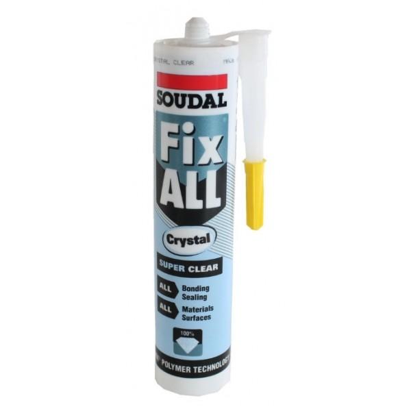 Σιλικόνη κόλλα Soudal FixAll Crystal Clear 290ml