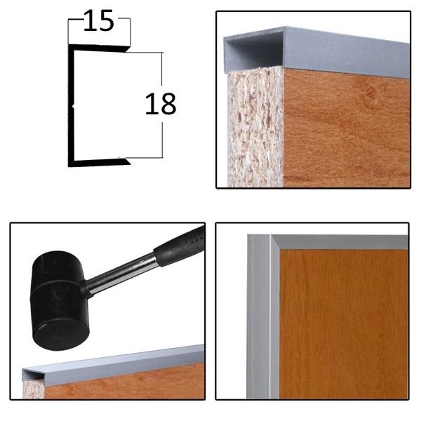 Χερούλι Π ντουλάπας εσωτερικό χωρίς κινησιά 18mm