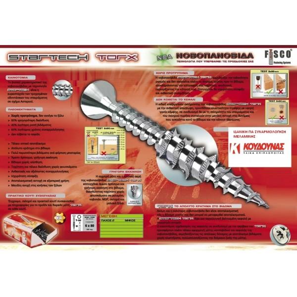 Νοβοπανόβιδες startech torx 3,5x18