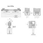 Εξαρτήματα μηχανισμού συρόμενης μεσόπορτας T80