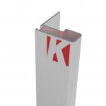 Χερούλι συρόμενης ντουλάπας MK 3m αλουμίνιο