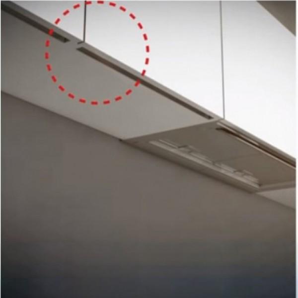 Προφίλ αλουμινίου GOLA για κρεμαστά / άνω ντουλάπια 410 cm