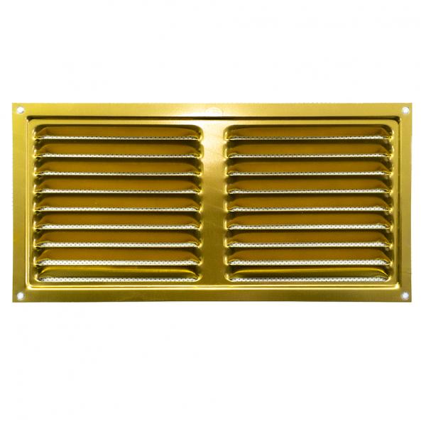 Περσίδα εξαερισμού μεταλλική 20x10 cm - ΧΡΥΣΟ