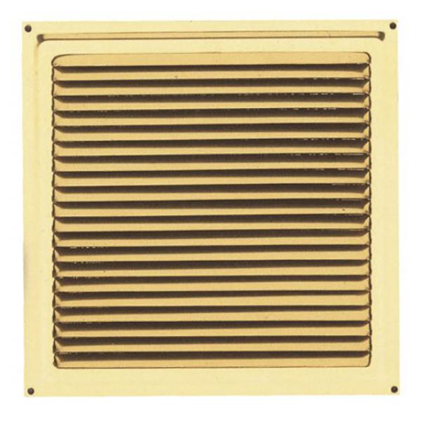 Περσίδα εξαερισμού μεταλλική 15x15 cm - ΧΡΥΣΟ