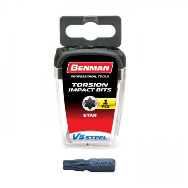 Μύτη βίδας TX30x25mm Torx Benman 74137