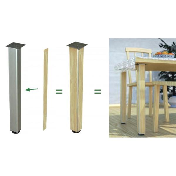 Πόδι Kubino 4X4 τετράγωνο 68x68 710mm αλουμίνιο