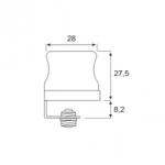 Κλειδαριά BMB φορετή για μονόφυλλα γυάλινα πορτάκια βιτρίνας