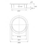 Ροζέτα καλωδίων BMB NFC Ø47mm inox