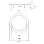 Ροζέτα καλωδίων BMB NFC Ø61mm inox
