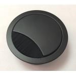 Ροζέτα καλωδίων Φ60 μεταλλική μαύρη μάτ