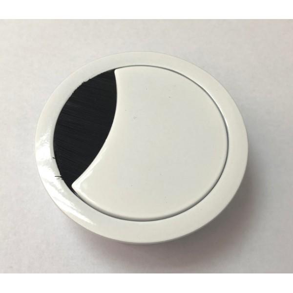 Ροζέτα καλωδίων Φ60 μεταλλική λευκή γυαλιστερή