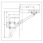 Κουμπάσο σπαστό Ceam 600 SX για ξύλινη πόρτα πάνω