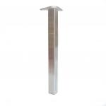 Πόδι Square αλουμίνιο γυαλιστερό
