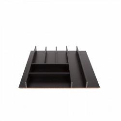Κουταλοθήκη MDF μαύρη για 60cm κουτί