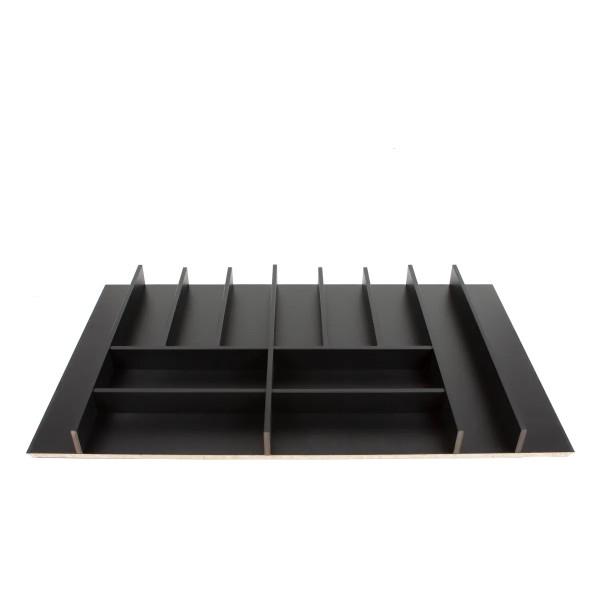 Κουταλοθήκη MDF μαύρη για 90cm κουτί