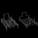 Πιατοθήκη ποτηροθήκη συρταριού για 90cm κουτί WIZARD P