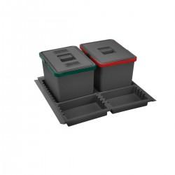 Σύστημα κάδων για συρτάρι elletipi METROPOLIS για 60cm κουτί
