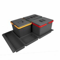 Σύστημα κάδων για συρτάρι elletipi METROPOLIS για 80cm κουτί