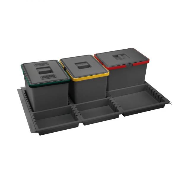Σύστημα κάδων για συρτάρι elletipi METROPOLIS για 90cm κουτί