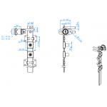 EverGood Κλειδαριά 288 μπροστινή πολλαπλή 16.5/20