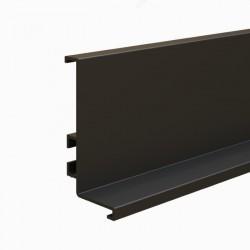 """Προφίλ αλουμινίου GOLA μαύρο """"L"""" (πάνω) 410cm"""