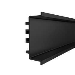 """Προφίλ αλουμινίου GOLA μαύρο """"U"""" (μεσαίο) 410cm"""