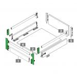 Στήριγμα μετώπης για εσωτερικό συρτάρι με ντίζες GRASS DWD XP stone