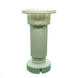Ποδαράκι πλαστικό Ø30 mm μήκους 10 cm, με ρεγουλατόρο - Παχύ σπείρωμα