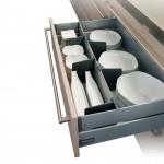 Συρτάρι με φρένο INDAUX 500x185 mm inox