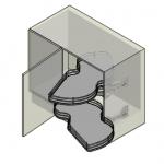 INOXA 846/45 Combi's 2 Γωνιακός μηχανισμός (φασόλι) δεξής χωρίς φρένο