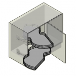 INOXA 846/45 Combi's 2 Γωνιακός μηχανισμός (φασόλι) αριστερός