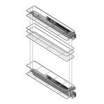 Τριώροφη μπουκαλοθήκη MC για 15cm κουτί δεξιά
