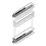 Τριώροφη μπουκαλοθήκη MC για 15cm κουτί αριστερή
