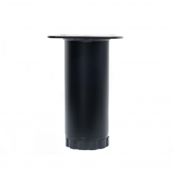 Ποδαράκι μεταλλικό Ø40mm 10cm με ρεγουλατόρο μαύρο