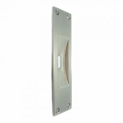 Χούφτα πόρτας 232 με κλειδαρότρυπα nickel mat