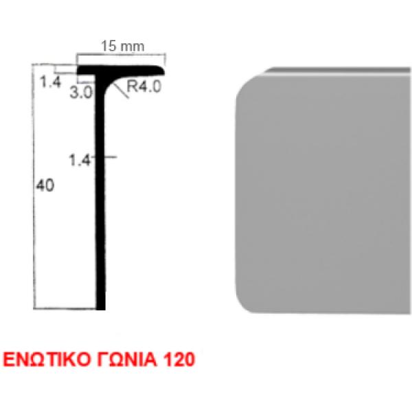Ενωτικό πάγκου αλουμινίου 4cm